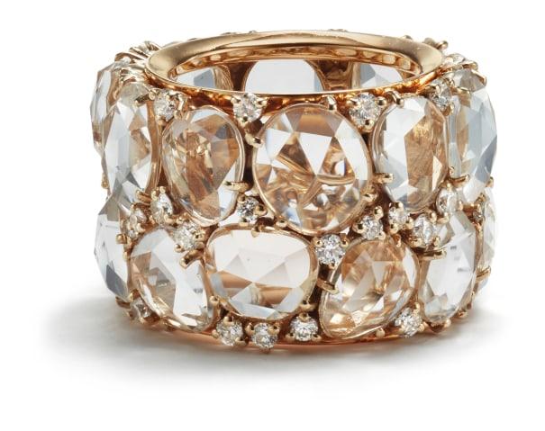 A Topaz and Diamond 'Lulu' Ring