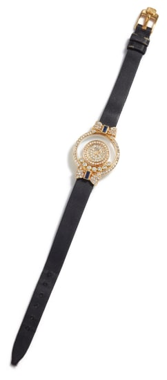 A Gold, Diamond and Sapphire 'Happy Sport' Watch