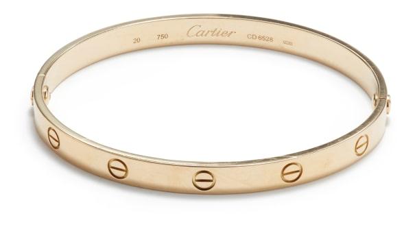 A Gold 'Love' Bracelet
