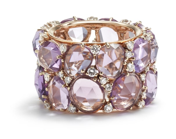 An Amethyst and Diamond 'Lulu' Ring
