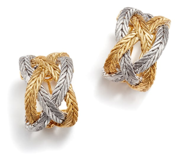 A Pair of Gold 'Oro Collection' Earrings