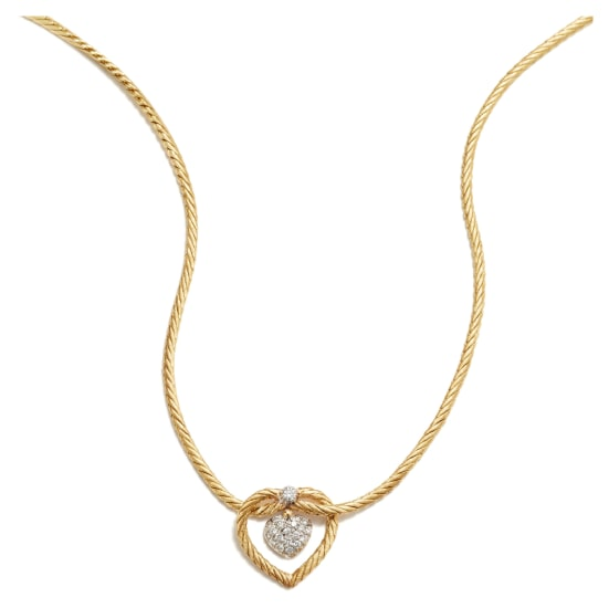 A Gold and Diamond 'Oro Collection' Necklace
