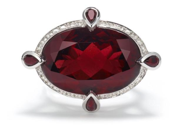 A Garnet, Sapphire and Diamond 'Jewelvine Romantic' Ring