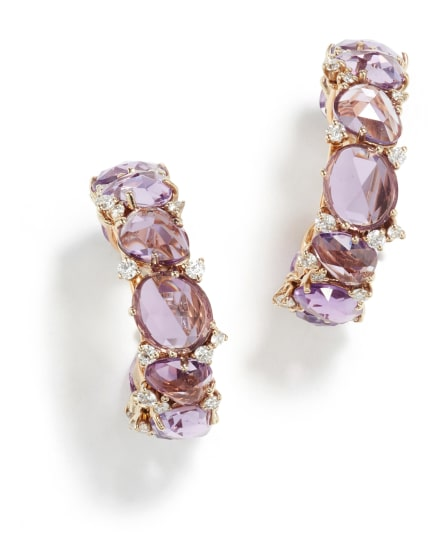 A Pair of Amethyst and Diamond 'Lulu' Earrings