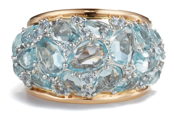A Topaz and Sapphire Ring