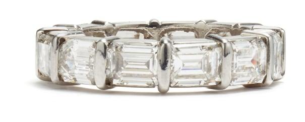A Diamond Eternity Band Ring