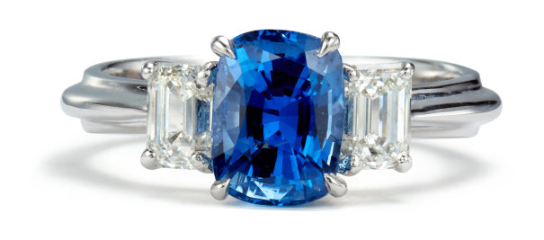A Ceylon Sapphire and Diamond Ring