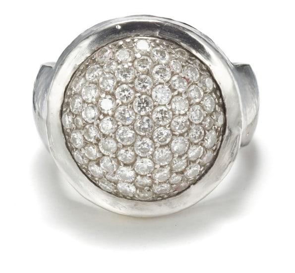 A Gold and Diamond 'Bijou' Ring