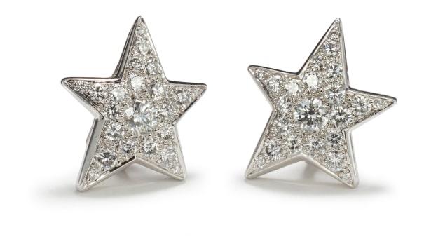 A Pair of Diamond 'Comète' Earrings