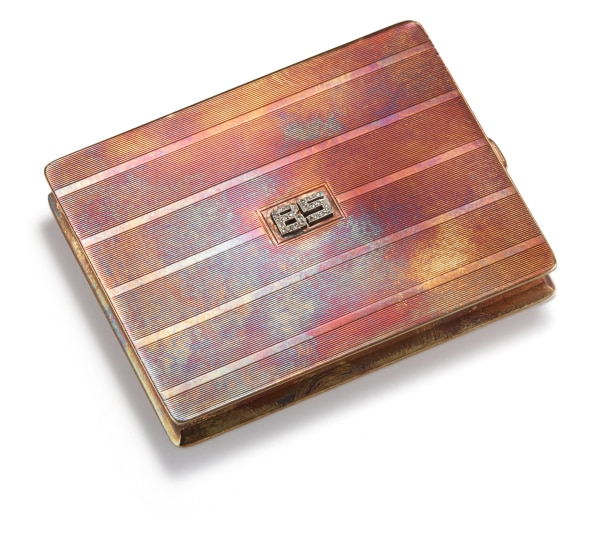 A Gold and Diamond Card Case
