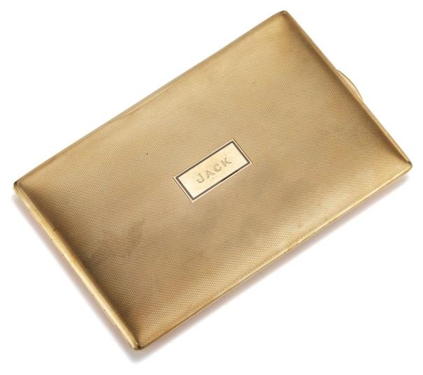 A Gold and Enamel Cigarette Case