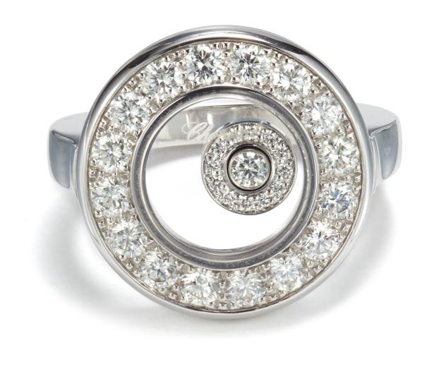 A Diamond 'Happy Diamonds' Ring