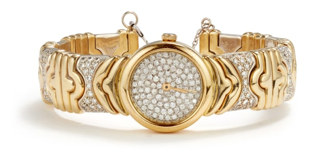 A Gold and Diamond Watch