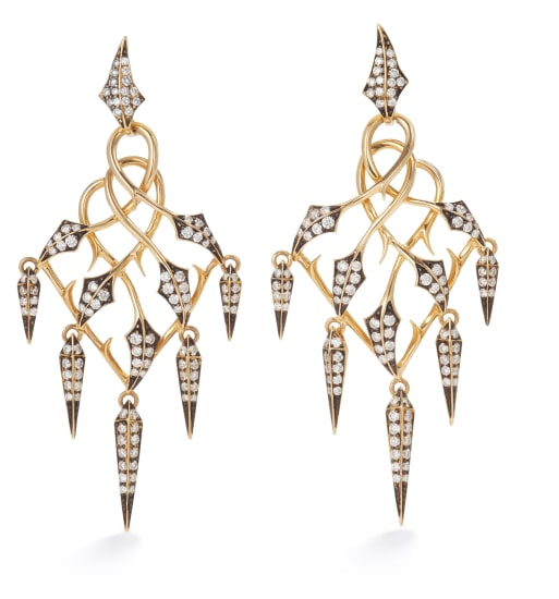 A Pair of Gold and Diamond 'Fly by Night' Earrings