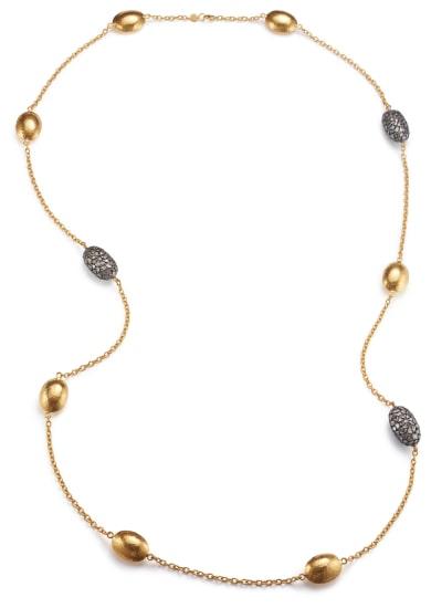 A Gold and Diamond Slice 'Bold Pastiche' Necklace