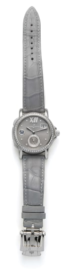 A Stainless Steel and Diamond Watch