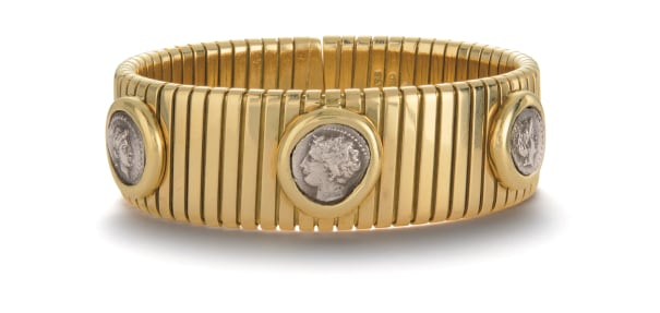 A Gold and Coin Bracelet