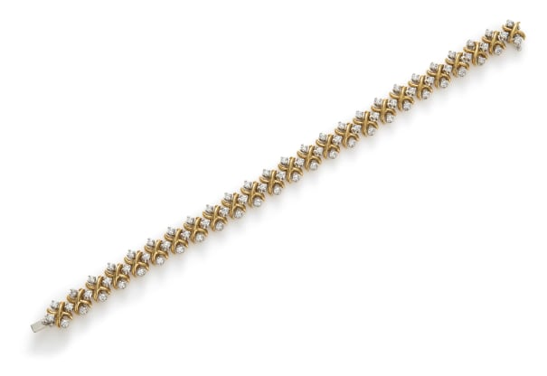 A Gold and Diamond 'Lynn' Bracelet