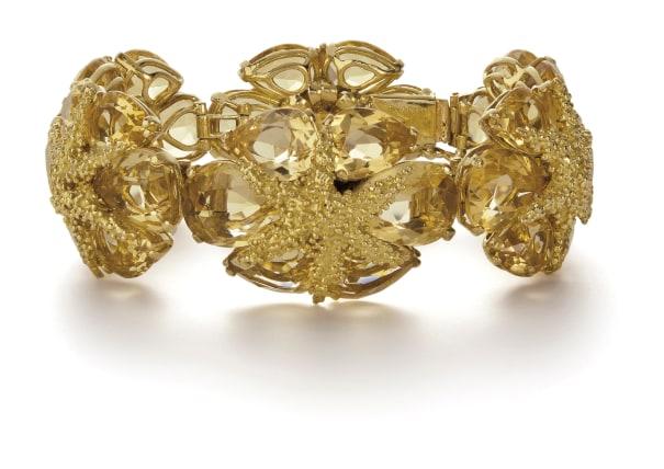 A Gold and Citrine Bracelet