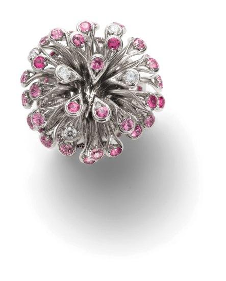 A Sapphire and Diamond 'Feu D'Artifice' Ring