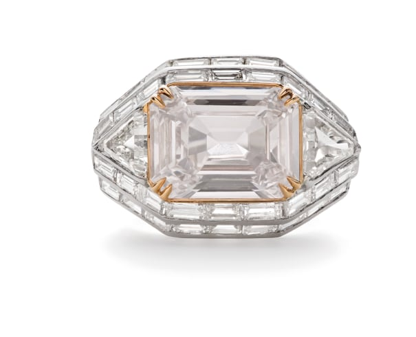 An Important Colored Diamond and Diamond Ring