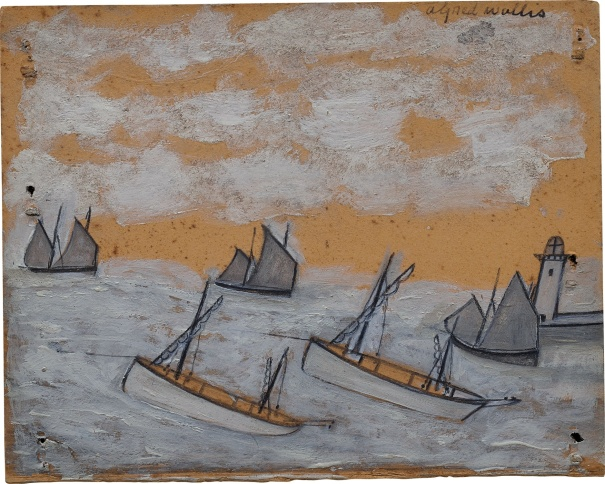 (Recto) Luggers nearing a Harbour and Lighthouse; (Verso) The 'Bessie' and the 'Flying Scud' sailing towards a harbour