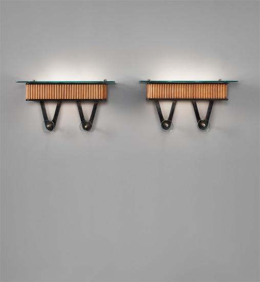 Pair of illuminated coat racks