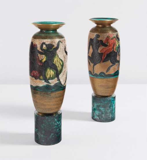 Pair of large urns