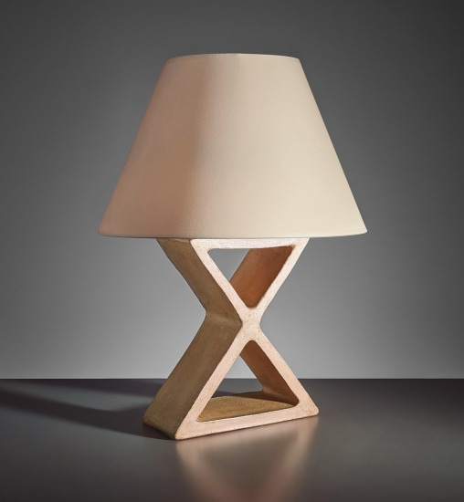 "Large ""X"" table lamp"