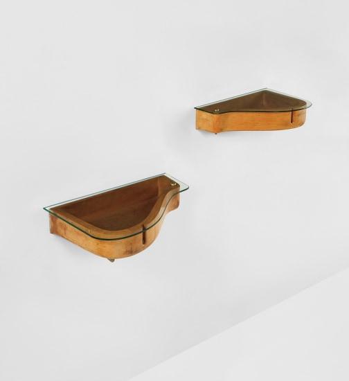 Remarkable Carlo Mollino Unique Pair Of Wall Mounted Bedside Tables Frankydiablos Diy Chair Ideas Frankydiabloscom