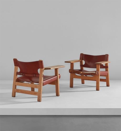 """Pair of """"Spanish"""" chairs"""