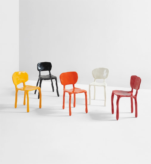 """Set of five """"Clay"""" children's chairs"""