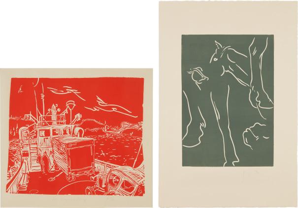 Two works: (i) McBrayne's Ferry; (ii) Welsh Lights
