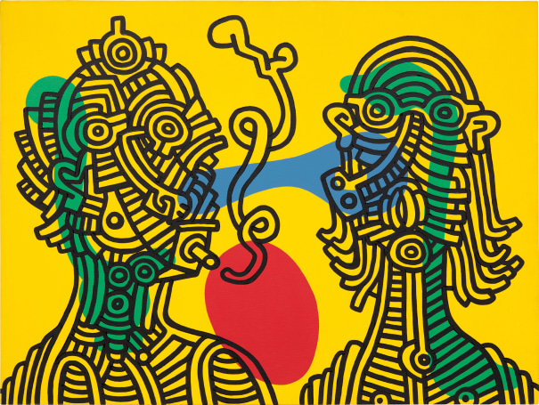 271565d5 Keith Haring - Keith and Julia | Phillips