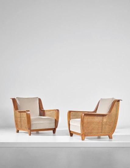 Rare pair of armchairs