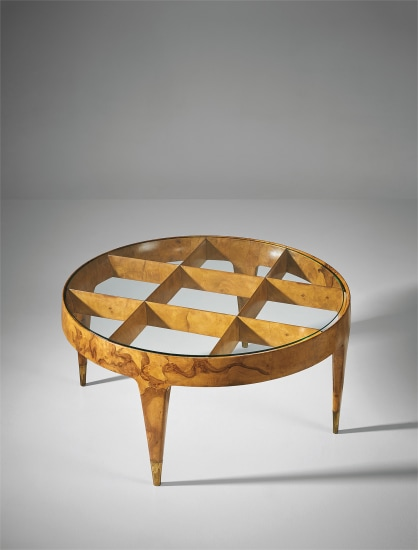 Rare coffee table, designed for the first class ballroom of the 'Giulio Cesare' ocean liner