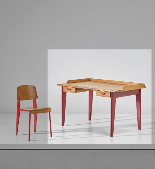 Rare 'Dactylo' desk, variant designed for a bank, Nancy