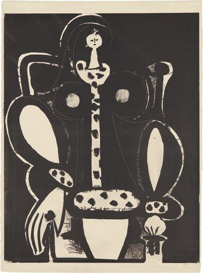 Femme au fauteuil (d'après le noir) (The Armchair Woman, from the black)