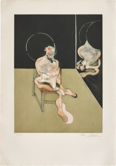 Seated Figure (after, Study for a Portrait 1981)