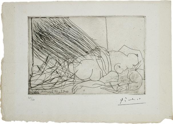 Femme nue endormie ou morte (Danaé?) (Nude Woman Sleeping or Dead [Danae?])
