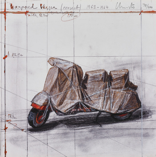Wrapped Vespa, Project, 1963-64