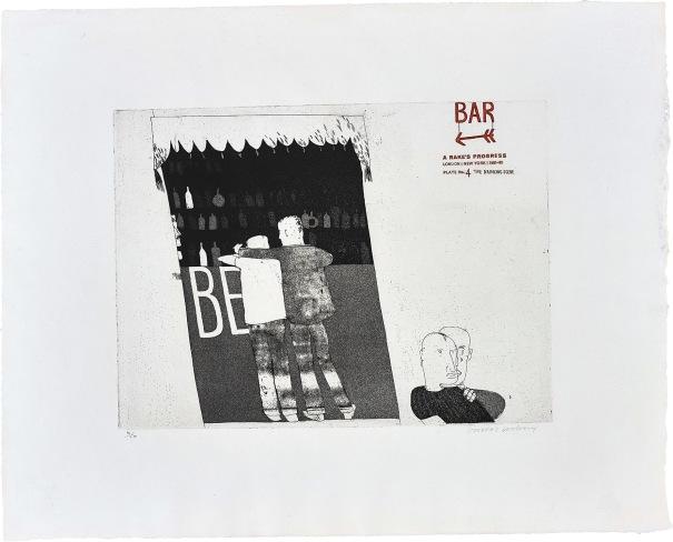 The Drinking Scene, plate 4 from A Rake's Progress
