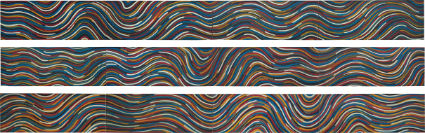 Wavy Bands of Color (Triptych)
