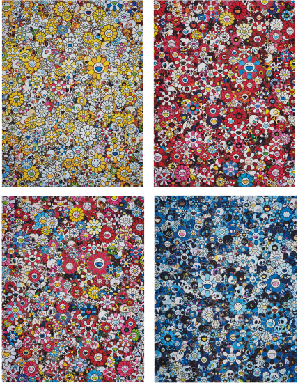 MG: 1960 → 2012; Skulls & Flowers Red; Dazzling Circus: Embrace Peace and Darkness Within Thy Heart; and Blue Flower & Skulls