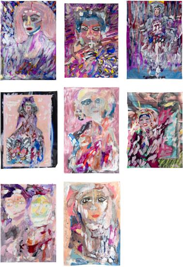 (i) Misty Copeland (ii) Cyd Charisse (iii) Isadora Duncan (iv) Martha Graham (v) Jane Avril (vi) Raven Wilkinson (vii) Two Mary Wigmans (viii) Martha Graham in Serenata Morisca