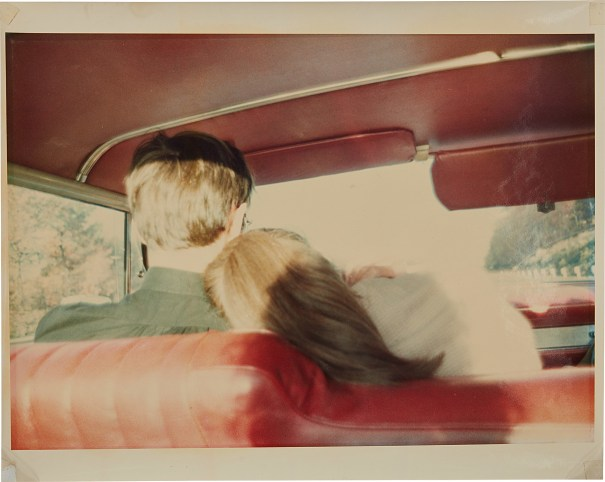 Kim and Mark in the Red Car, Newton, MA, 1978