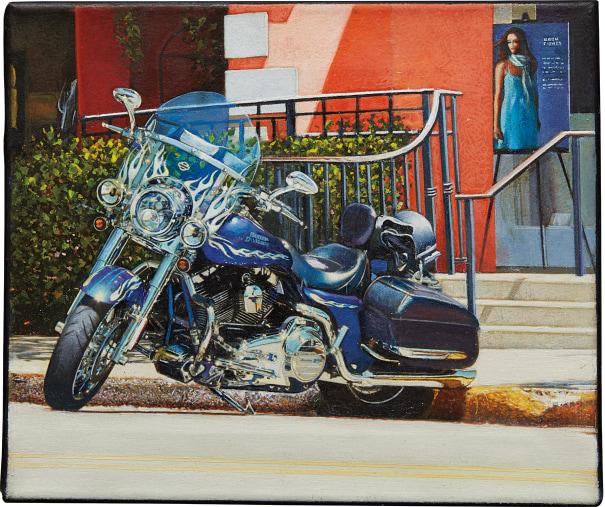 Parked Harley - Third St. Naples