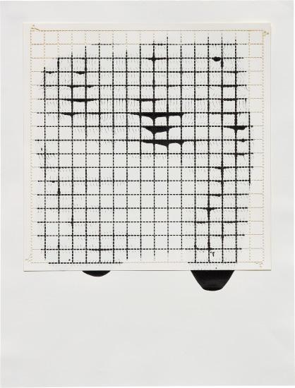 Ink on Paper, Offset: Grid #2