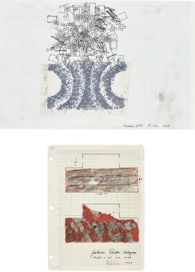 Two works: (i) Maroon Felt; (ii) Untitled