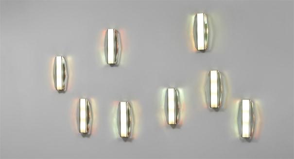 Set of eight rare wall lights, model no. 2300